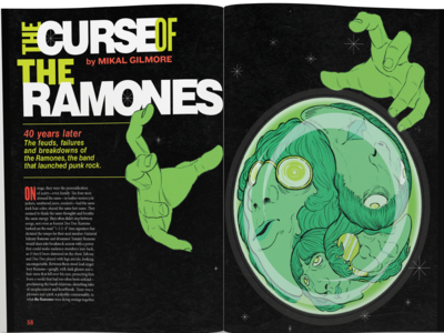 Curse of the Ramones Editorial Illustration & Design