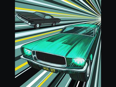 Steve McQueen Illustration: Bullitt