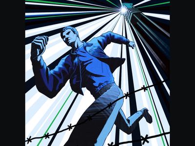 Steve McQueen Illustration: the Great Escape
