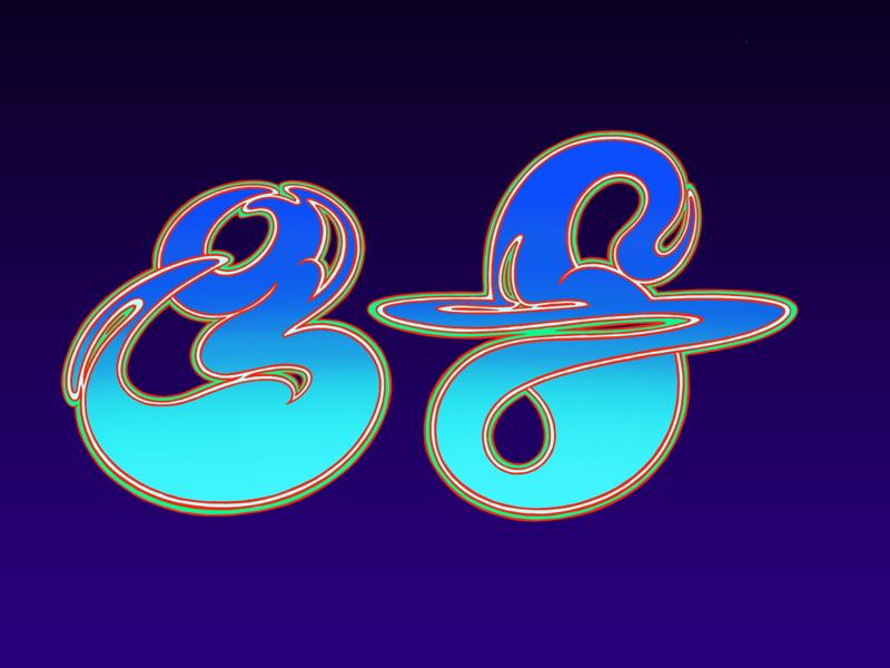 Roger Dean Type illustration logo fantasy sci fi roger dean 80s 70s psychedelic retro typography type