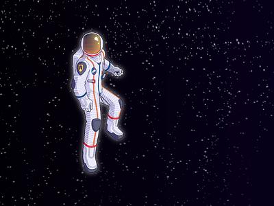 Astronaut artwork illustration character design nasa space astronaut