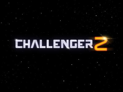 Challenger Z Main Title logo design retro space animation logo typography main title