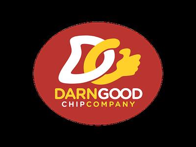 Darn Good Chips graphic design typography flat design marque logotype icon logo design logo