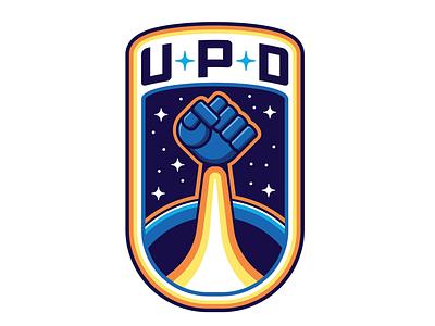 United Planetary Defense (WIP) graphic shield crest nasa patch scifi resistance fist nasa space insignia graphic design logo design logo