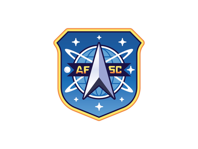 Air Force Space Command illustration stars shield military air force insignia space command graphic design badge icon logo