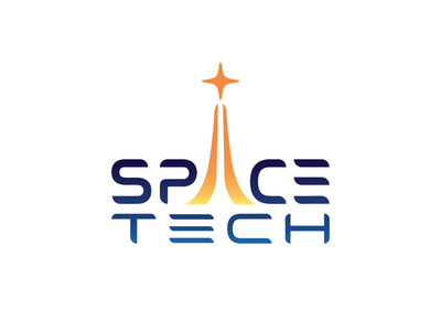 Space Tech aerospace spacex nasa cool sharp graphic design sleek retro illustration typography modern futuristic space video game logotype logo design icon logo
