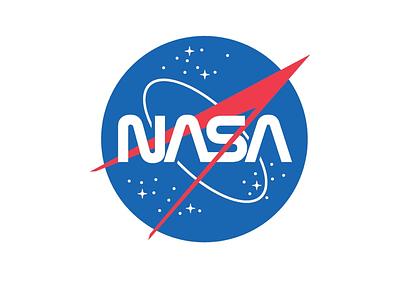 New NASA Logo typography insignia modern worm logo usa space redesign retro futurism retro graphic design icon nasa logo design logo