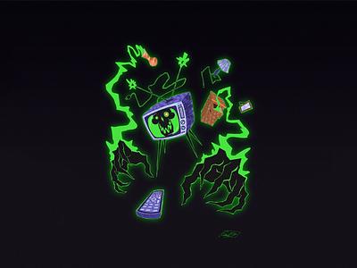 TV Ghost poltergeist artwork character design ghost halloween illustration