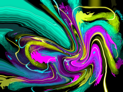 Abstract 2 psychedelic ethereal elemental storm painting clouds light lighting desktop background design illustration abstract