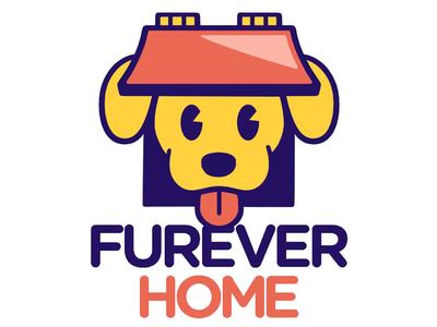 Pet Adoption Agency Logo typography logotype puppy cute pets dog illustration icon logo design logo