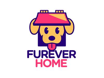 Furever Home Logo Update brand design branding puppy dog logotype cute icon illustration logo design logo