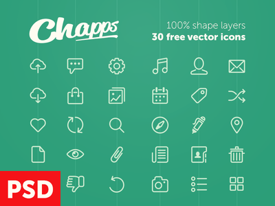 Free Vector Icons from Chapps psd free psd vector freebie ios7 icons ios icons icon shapes glyphs free icons odessa ukraine