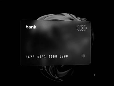3D Glass Black Card blur money finance 3d card mastercard mobilebank bank premium platinum black ios glass