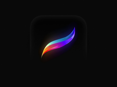 Procreate Icon 3D colorful branding ipad icon app icon ukraine cinema4d c4d draw brush brushes procreate app procreate