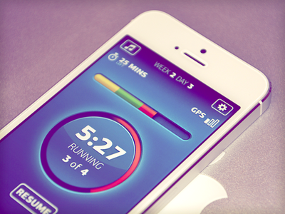 Secret sport app app ios ui interface mobile phone circle progressbar metro sport running sport app odessa ukraine