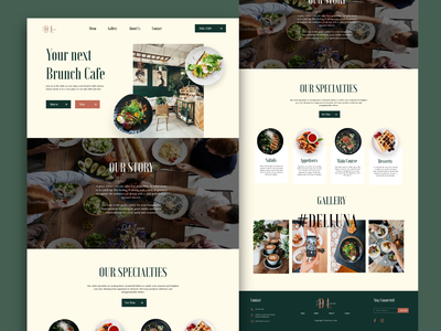 Del Luna Cafe Website Design minimal website design web design ux ui user experience design design user interface design