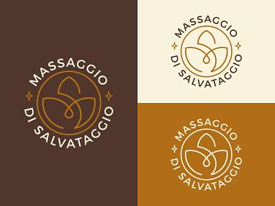 Massaggio di Salvataggio - Logo salvataggio massaggio graphic design illustrator monogram brand design vector color palette flat construction concept lotus oil massage golden ratio branding brand identity logo