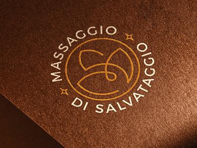 Massaggio di Salvataggio - Logo photoshop mockup salvataggio massaggio graphic design illustrator monogram brand design vector color palette construction concept lotus oil massage golden ratio branding brand identity logo