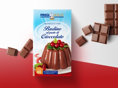 Chocolate Pudding packaging product sweet redesign food dessert box restyling mockup pudding chocolate packaging pack