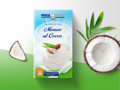 Coconut Mousse packacging fruit product coconut mousse dessert food redesign restyling box packaging pack