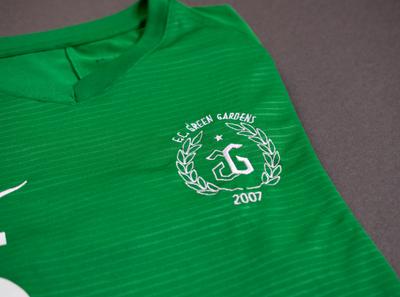 F.C. Green Gardens football kit logo football badge badge football branding logo design visual  identity print design concept visual design