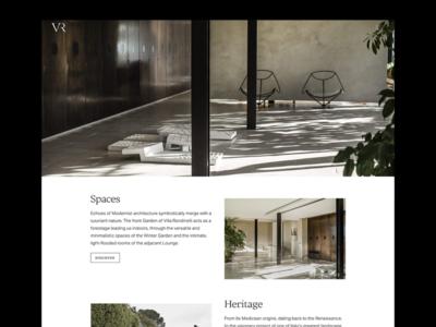Villa Rondinelli photoshoot interior design fashion italy florence villa responsive website responsive javascript css html coding web development ui ux concept design visual design