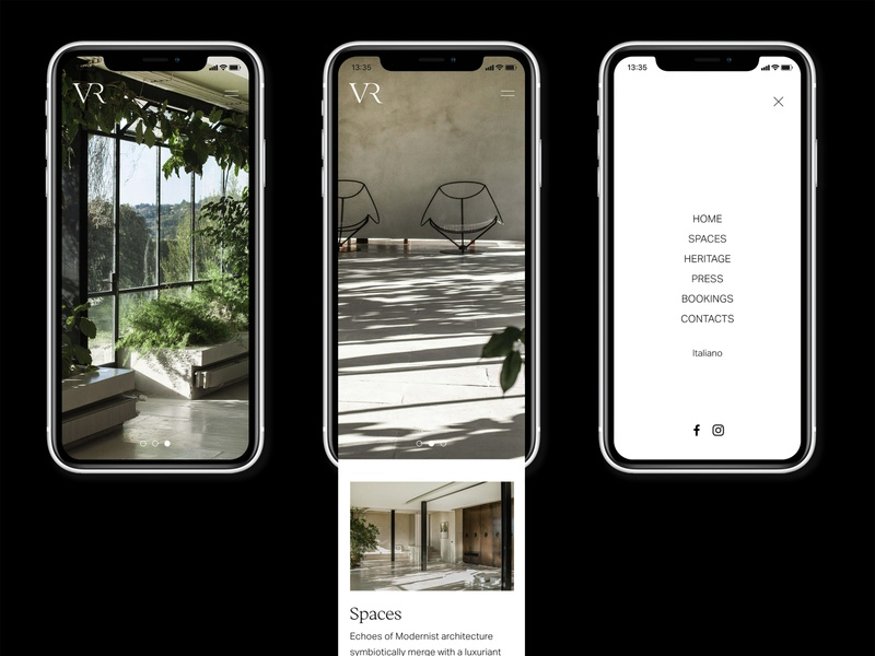 Villa Rondinelli responsive design responsive website italy florence photoshoot interior design fashion javascript css html coding web development ux ui design concept visual design