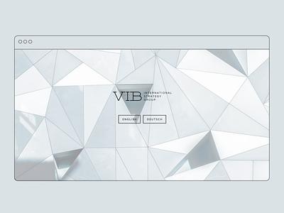 VIB Strategy website – welcome page website graphic design javascript css html coding ux design ui design web design digital design visual language concept design visual design
