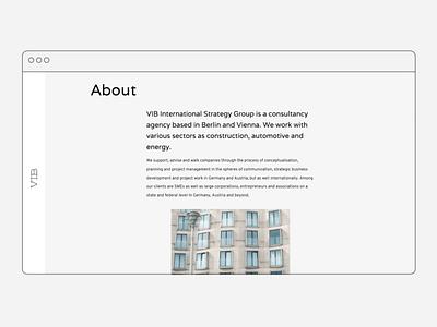 VIB Strategy website responsiveness responsive design interface web design website javascript css html coding ux design ui design digital design visual language concept design visual design