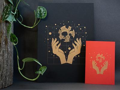 Craft – prints illustration vector design vector grid design hands magic christmas card gift card print poster poster design print design risoprint risograph