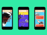 Lunaland – website, mobile version
