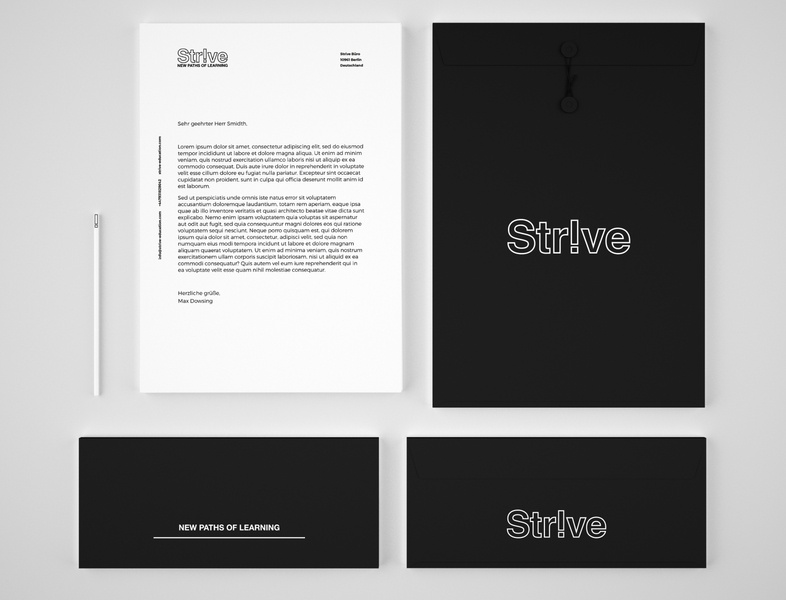 Strive – stationery