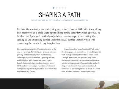 Portfolio Redesign - Content Layout