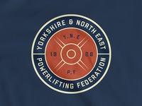 Badge for YNE Powerlifting Federation