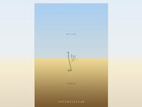 Minimalist poster for Interstellaer