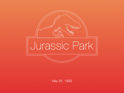 If Apple made Jurassic park poster