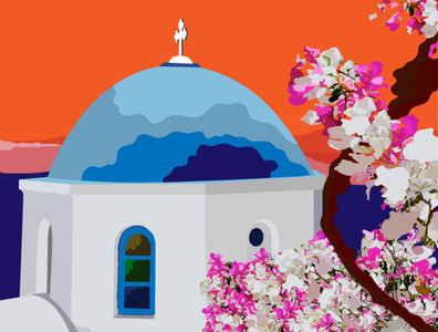 Greece visual flat art adobe creativity vector creative art direction digital art illustration digital artist design