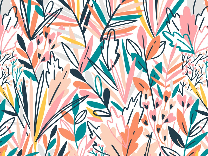 Exotic seamless patterns tropic tropical jungle rainforest background nature blossom design exotic leaf leaves floral flower vector seamless pattern