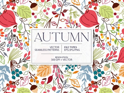 Autumn is coming design leaf fall autumn illustration leaves floral flower vector seamless pattern