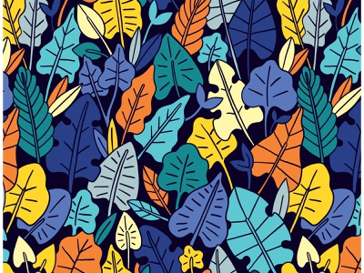 LEAVES seamless pattern for sale designs background wallpaper autumn fall nature design exotic leaves leaf illustration floral vector seamless pattern