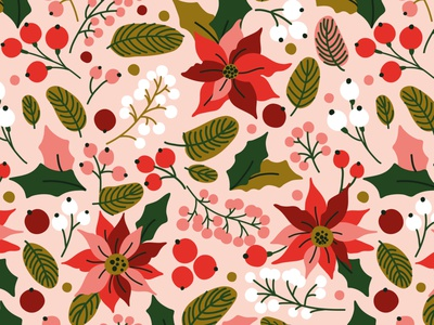 Poinsettia Christmas Pattern colorful for sale berry background patterns winter poinsettia christmas nature blossom exotic design illustration floral flower vector seamless pattern