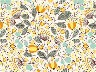 SEASONS vector seamless pattern surface pattern surface design seasons season design fall autumn winter bloom blossom leaves summer spring floral flower vector seamless pattern