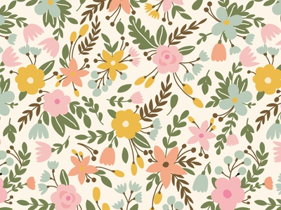 BLOSSOM seamless pattern florish nature design spring bloom blossom summer vector floral flower seamless pattern