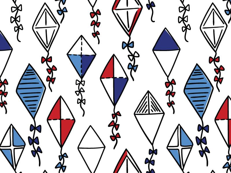 Kite Pattern By Maria Galybina Dribbble Dribbble Impressive Kite Pattern