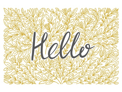 Hello! phrase font flower hello lettering