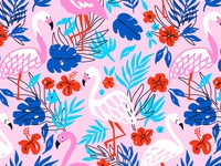 Exotic flamingo pattern