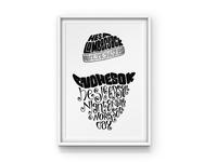 Lumberjack Song Lettering
