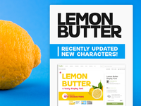 🍋Lemon Butter Display Font 🍋 | Updated w/ New Characters