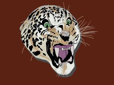 Untitled Artwork tiger animal procreate illustration