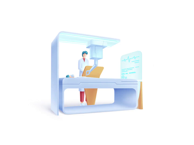 Healthcare series: Surgeonist surgeonist doctor hospital surgery surgeon medical science care health speedart illustration 2.5d